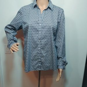 Tommy Hilfiger Button up Blouse Top Long Sleeve Lg